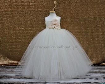 40% OFF ALL ORDERS-Ivory Flower Girl Tutu Dress-Ivory Tutu Dress-Ivory Tutu.Flower Girl Tutu Dress-Wedding Tutu Dress-Birthday Dress.