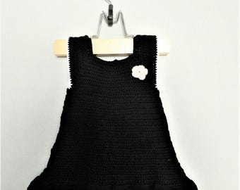 Elegant handmade crochet baby dress