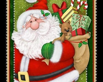 """Henry Glass & Co Kringle Krossing by Shelly Comiskey of Simply Shelly Designs 6402P-89      ---- panel (23"""" wide)"""