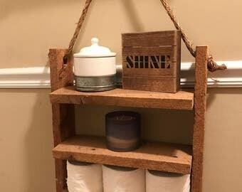 Rustic Rope Shelf