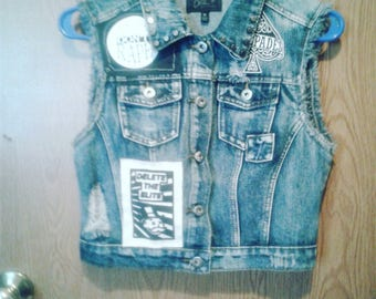 Punk Studded Vest: The Adicts