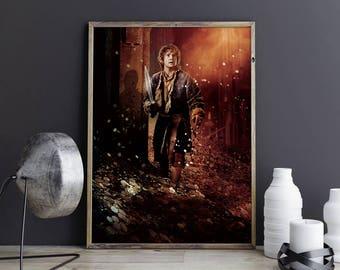 Hobbit Art Bilbo Baggins Art Hobbit Wall Art Hobbit Wall Decor Hobbit Photo Hobbit Print Hobbit Poster Desolation of Smaug Lord of the Rings
