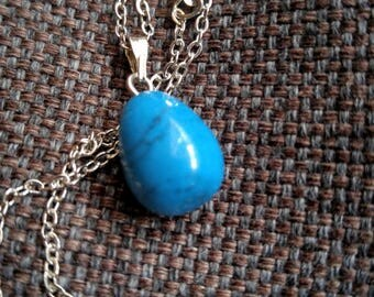 Blue Howlite Pendent Necklace