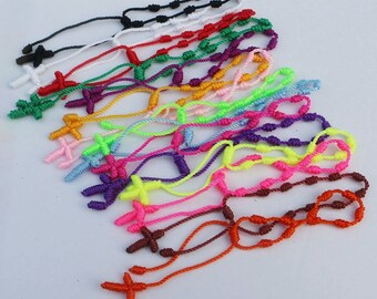 Handmade Cross Friendship Bracelets