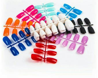 240pcs/pack Fashion Full Cover Artificial Fake Nail. DIY manicure, Press On Nails. 20 sets nail tips, 20 colours Nail Tips. False Tips.