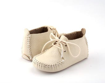 First Step Handmade Natural Leather Baby Shoe EUR 19 Beige