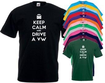 Keep Calm Vw Campervan T-Shirt