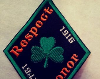 Irish Pride Diamond shaped patch, St. Patrick.