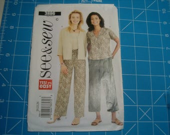 Butterick See and Sew 3886