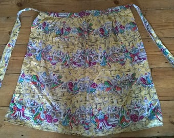 Quirky Genuine Vintage Pinny Apron Medieval Jousting Feast Kitchenalia