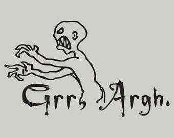 Grr Argh Buffy The Vampire Slayer Horror Vinyl Car Decal Bumper Window Sticker Any Color Multiple Sizes