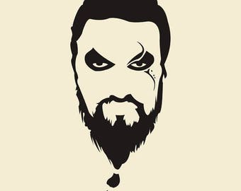 Khal Drogo GOT Game of Thrones Horror Vinyl Car Decal Bumper Window Sticker Any Color Multiple Sizes Merch Massacre