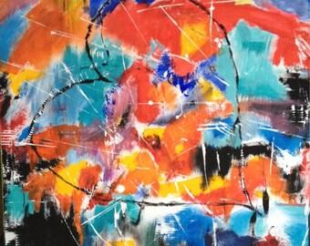 Abstract painting, modern art, abstraktes Bild, Acrylbild, moderne Kunst, modern art, wall art, buntes Bild