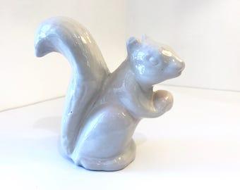 Vintage Niloak squirrel planter, ceramic squirrel pot, succulent pot, decorative pot, squirrel figurine, toothbrush holder, pencil holder