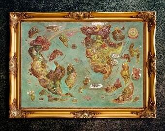 The Legend of Zelda, Kingdom of Hyrule Map, Legend of Zelda Map, The Legend of Zelda Art, The Legend of Zelda Poster, Legend of Zelda Print