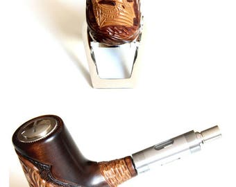 E-pipe/E-pipe made of real wood SFTS - X 16 (100% hand work)