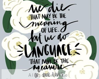 Toni Morrison Quote Digital Print
