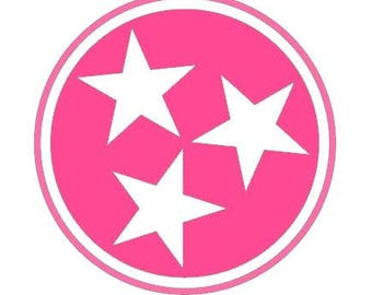 Pink TriStar Decal