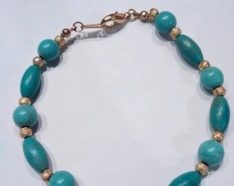 Magnesite Bracelet/Anklet 8 1/4 Inch/stardust beads Nickel Free, Hypoallergenic, Plus size accessories universal