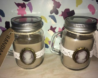 Toasted Marshmallow Highly Scented Soy Wax Mini Mason Jar Candles