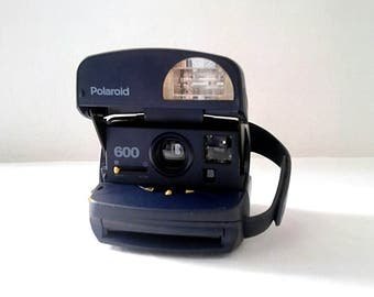 Polaroid 600 Blue, yellow
