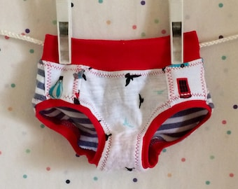 Upcycled, one of a kind handmade underwear/panties for kids