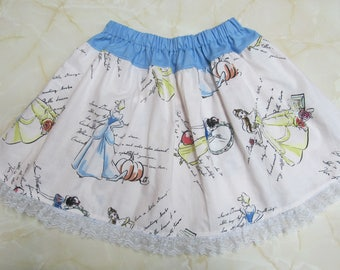 Beautiful Princesses Children's skirt with a beautiful lace around the bottom and full of extra twirl flounce - Limited Edition