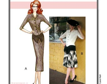 Sew Chic Vintage Style Dress Pattern Myrtlewood Drop Waist Dress #LN7401