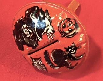 Vintage Halloween US Metal Toy Tin Noise Maker