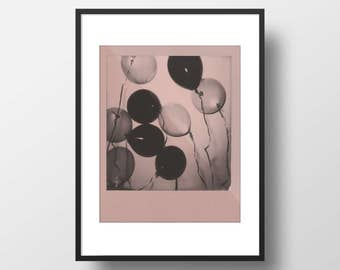 Pastel Pink Balloon Polaroid Wall Print — Wall Decor