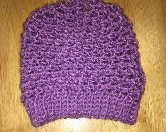 Lavender Baby Sock Cap