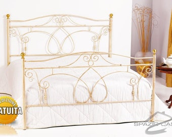 Wrought iron bed 100% Made in Italy craftsmanship Ester