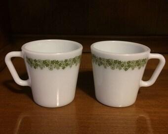 Crazy Daisy Pyrex D-handle Mugs
