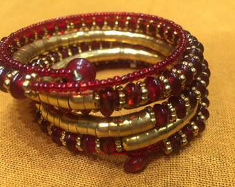 Spiral Beaded Indian Bracelets
