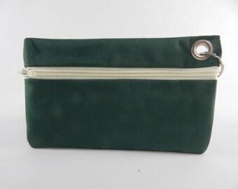 Key Ring Cash Pack, Cellphone Case, Makeup Case- Green
