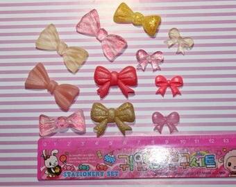 11 resin Ribbons SET various colors