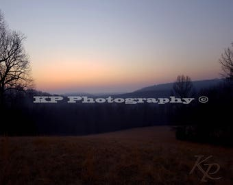 Sunrise Mist- Hay Field