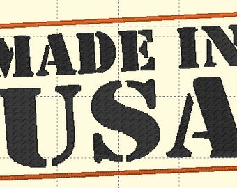Made in the USA Embroidery File