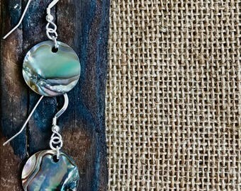 Abalone Earrings ~ Round