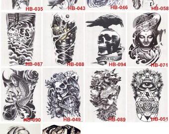 Half Sleeve inkSlap Temporary Tattoo