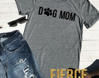 Dog Mom Unisex Adult Shirt, Funny Dog Mom Shirt, Stay at Home Dog Mom, Funny Mom Shirt