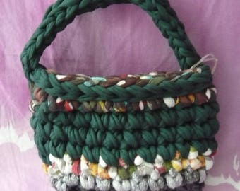 Girls ' handbag made of crocheted-handbag-Handbag for every occasion-low point-green and lines of other colors