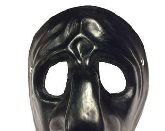 Pulcinella Leather Commedia dell'Arte Mask