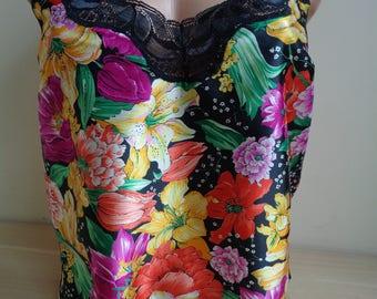 FLORAL Vintage Camisole, FLORAL Cute Lingerie, Vintage Floral Camisole