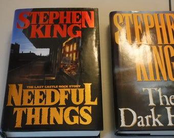 Stephen King - The Dark Half and Needful Things  Hardback