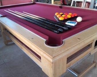 Billiard handmade solid oak