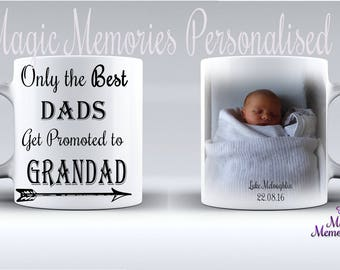 Only the best dads get promoted to grandad/fathers day mug