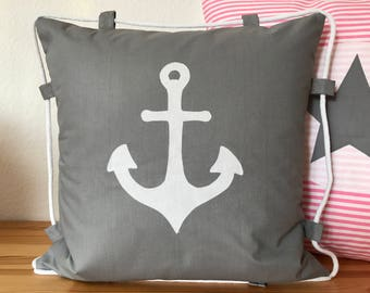 Country style Cushion cover * pillow * anchor + rope 40x40cm