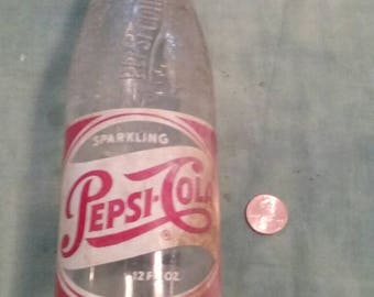 Vintage Glass Pepsi Cola Bottle,Springfield/ Ohio/Small Town History/Sparkling/Pop/Brew/Used/Antique Glass