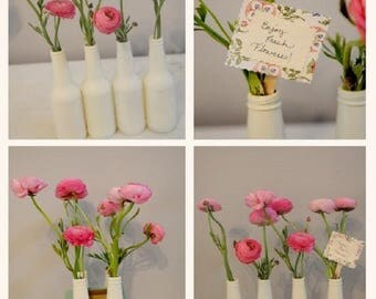 Bottle Flower Vases (order of less than 4)